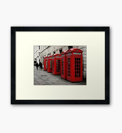 Waiting for a Call Framed Print