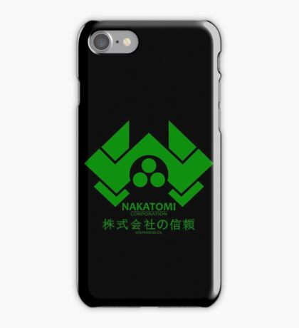 NAKATOMI PLAZA - DIE HARD BRUCE WILLIS (GREEN) iPhone Case/Skin