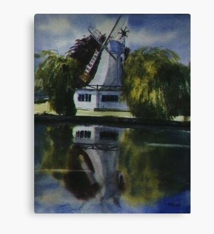 Windmill In The Willows Canvas Print