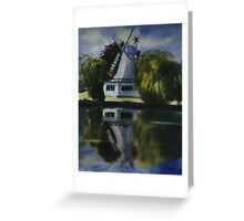 Windmill In The Willows Greeting Card