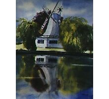 Windmill In The Willows Photographic Print
