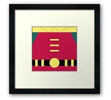 R - Superhero Framed Print