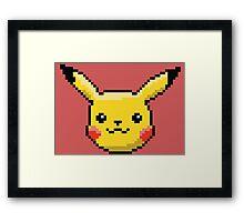 Pixel Pika Framed Print