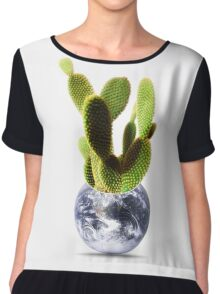 whole world is a cactus Chiffon Top