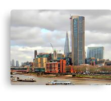 South Bank River Thames London Metal Print