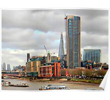 South Bank River Thames London Poster