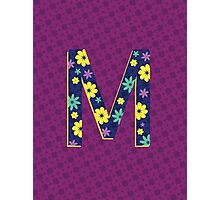 Flower Letter M Photographic Print