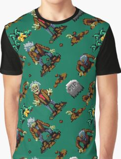 Zombies Ate My Neighbors SNES (zombie pattern) Graphic T-Shirt