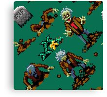Zombies Ate My Neighbors SNES (zombie pattern) Canvas Print