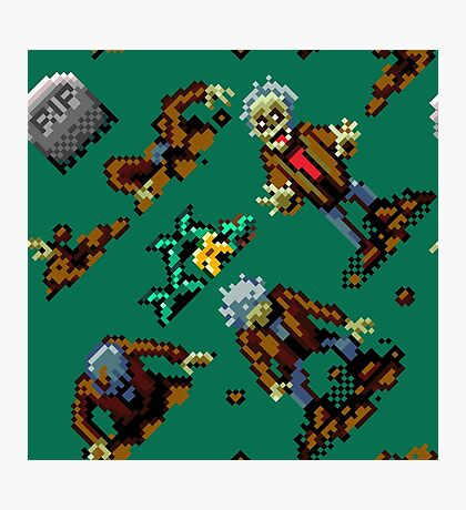 Zombies Ate My Neighbors SNES (zombie pattern) Photographic Print