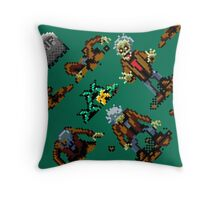 Zombies Ate My Neighbors SNES (zombie pattern) Throw Pillow