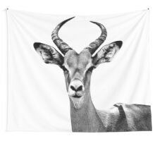 SAFARI PROFILE - ANTELOPE WHITE EDITION Wall Tapestry
