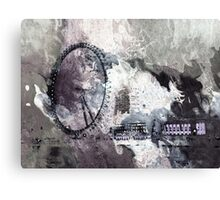 Thames Night View Abstract Canvas Print
