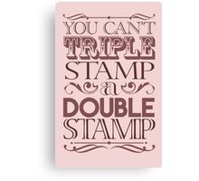 Triple Stamp Light Canvas Print