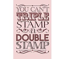 Triple Stamp Light Photographic Print