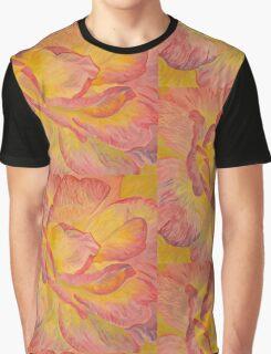 Yellow Pink Rose Graphic T-Shirt