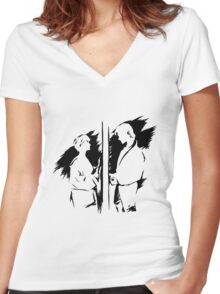 a-ha Ink Women's Fitted V-Neck T-Shirt