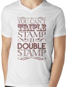 Triple Stamp Light Mens V-Neck T-Shirt