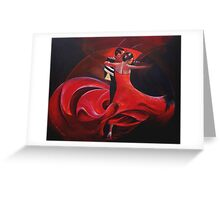 Paso Doble Greeting Card