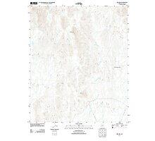 USGS TOPO Map Arizona AZ Red Hill 20111123 TM Photographic Print