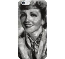 Claudette Colbert Vintage Hollywood Actress iPhone Case/Skin