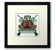 Spacklers Pest Control Framed Print