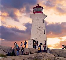 Peggy's Cove Lighthouse by Nancy Richard