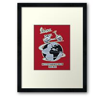 vespa is my life Framed Print