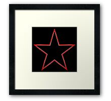 Bordered Black Star Framed Print