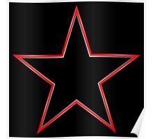 Bordered Black Star Poster