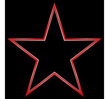 Bordered Black Star Photographic Print