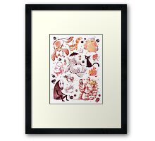 Ghibli Creatures Framed Print