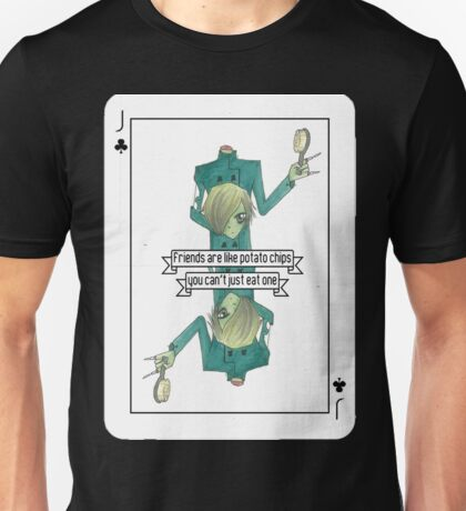 Zombie Jack Playing Card Unisex T-Shirt