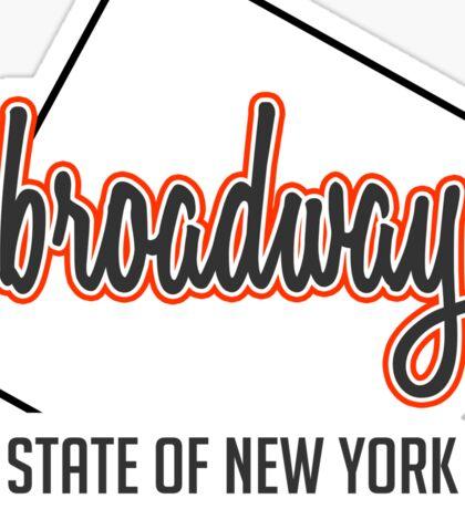 Broadway ST, New York Sticker