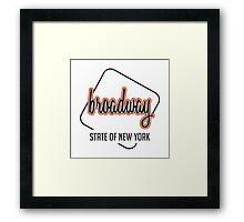 Broadway ST, New York Framed Print