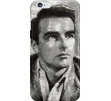 Montgomery Clift Vintage Hollywood Actor iPhone Case/Skin