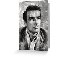 Montgomery Clift Vintage Hollywood Actor Greeting Card