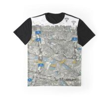 Illustrated map of Berlin-Mitte. Green Graphic T-Shirt