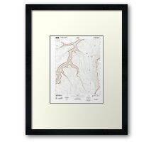 USGS TOPO Map Arizona AZ Bitter Springs 20111027 TM Framed Print