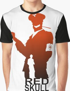 red skull silhuete Graphic T-Shirt