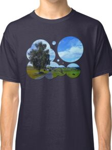 Old tree, country road and a cloudy sky | landscape photography Classic T-Shirt