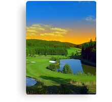 Summer sunset at the golf club | landscape photography Canvas Print