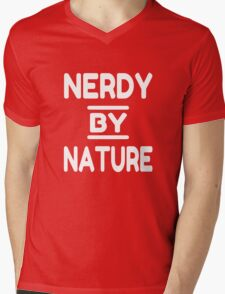 Nerdy By Nature Mens V-Neck T-Shirt