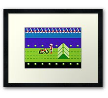 8 Bit Punchured Bike Framed Print