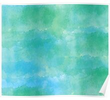 Blue - Green Watercolor Poster