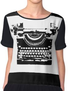 Typewriter Chiffon Top