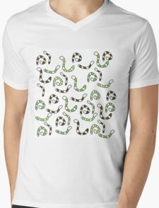 Green worms Mens V-Neck T-Shirt