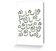 Green worms Greeting Card