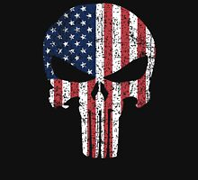The Punisher Skull with American Flag Unisex T-Shirt