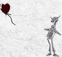 Tinman Heart Balloon Graffiti by Rachel Flanagan